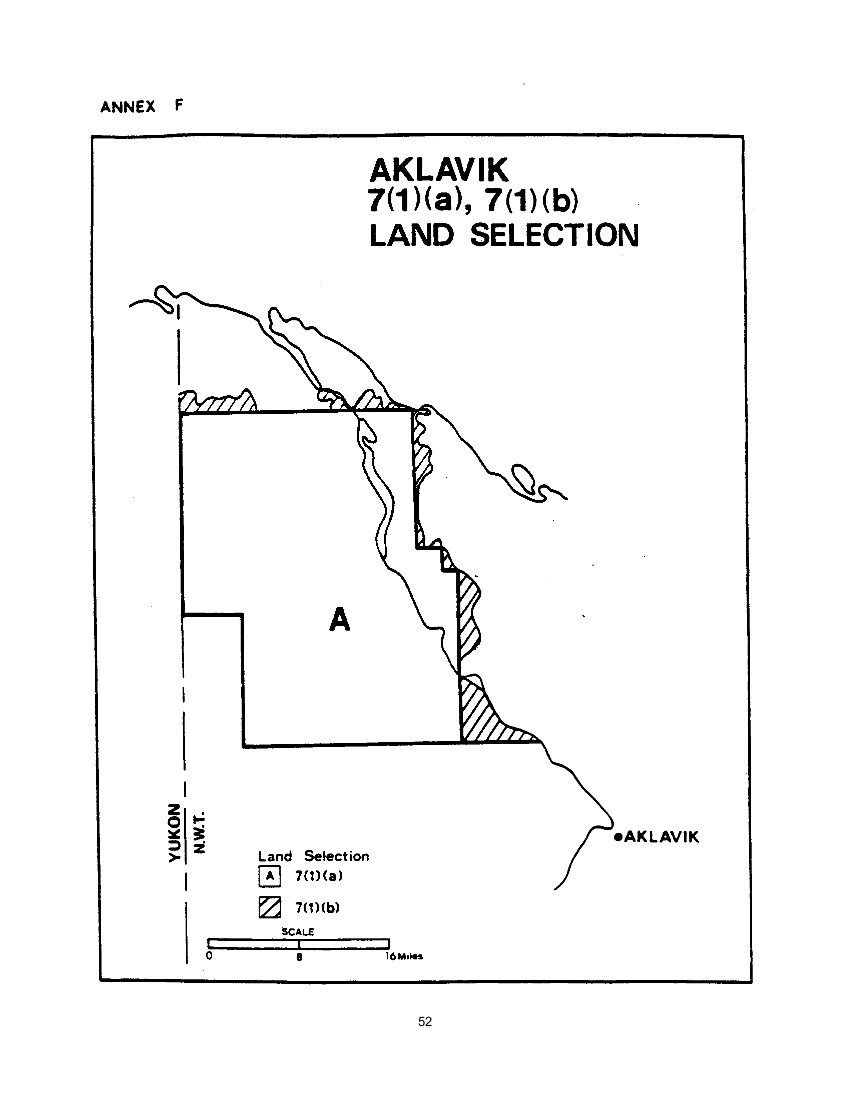 Aklavik 7(1)(a) , 7(1)(b) Land Selection (map)