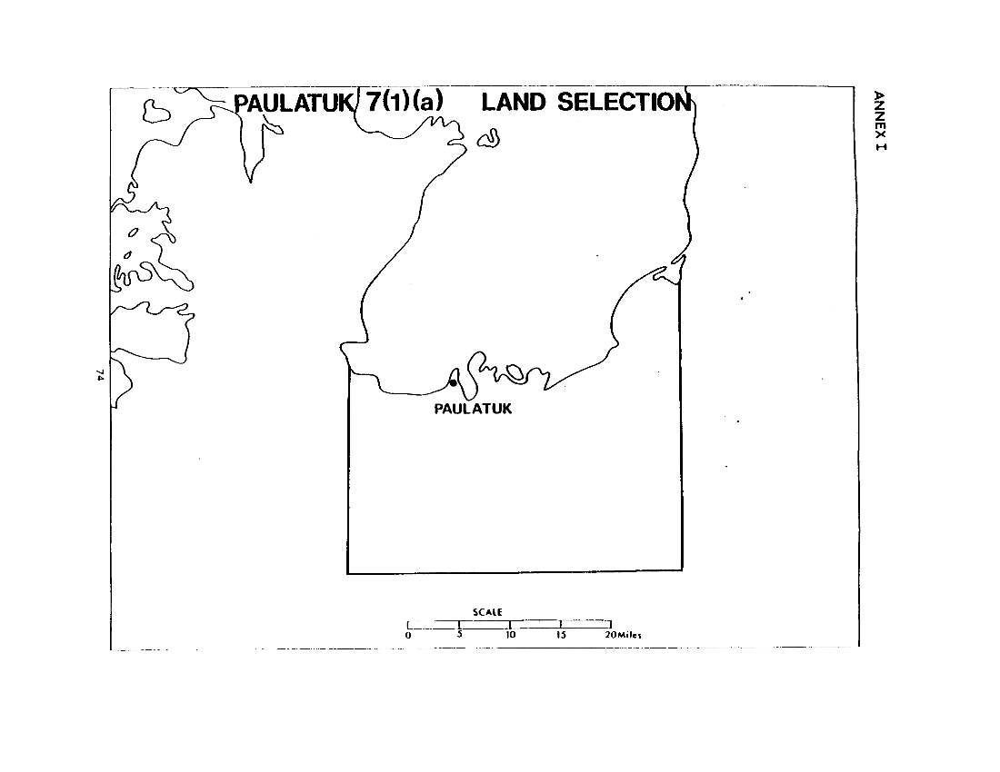 Paulatuk 7(1)(a) Land Selection (map)